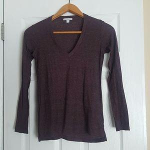 Standard James Perse purple long sleeve tee tshirt